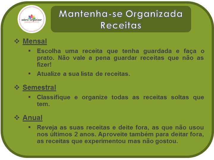 dicas_mantenha-se organizado receitas